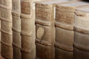 Buchrücken in der DBS
