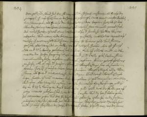 Eine typische Schriftseite der Predigthandschrift