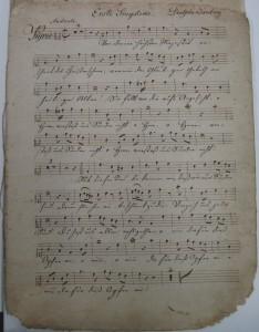 Stimmenmaterial zur Landemesse von Franz Xaver Gruber