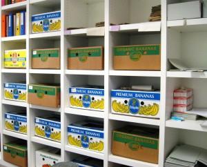 Noch lagern die Niederndorfer Archivbestände in Bananenschachteln
